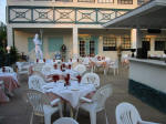 Neptune Restaurant Pation.  Grand Cayman Cayman Islands restaurants