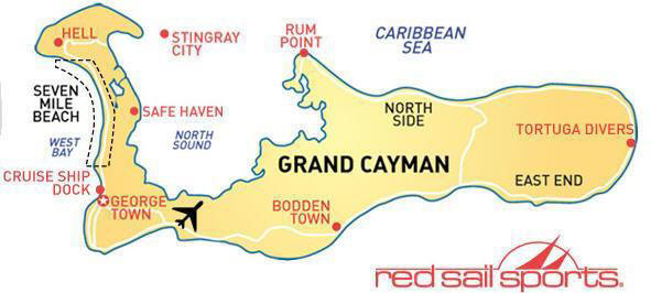 Map of Cayman Island